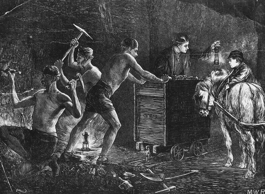 Coal Miners Digital Art by Hulton Archive