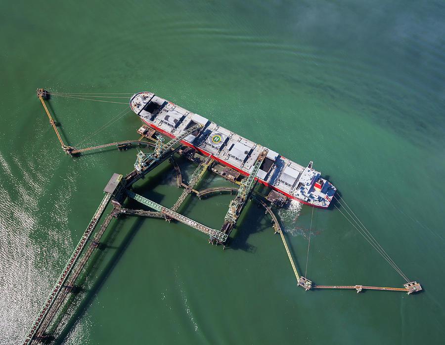 Coal Ship Being Loaded Photograph by Dan prat