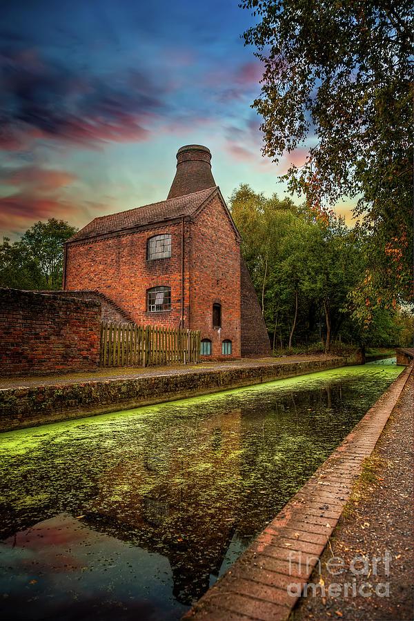 Coalport Bottle Kiln Sunset by Adrian Evans
