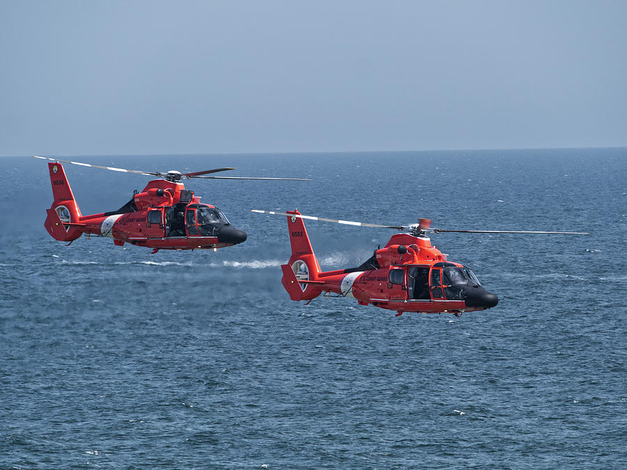 Coast Guard on Patrol NJ Shore by Paul Ross