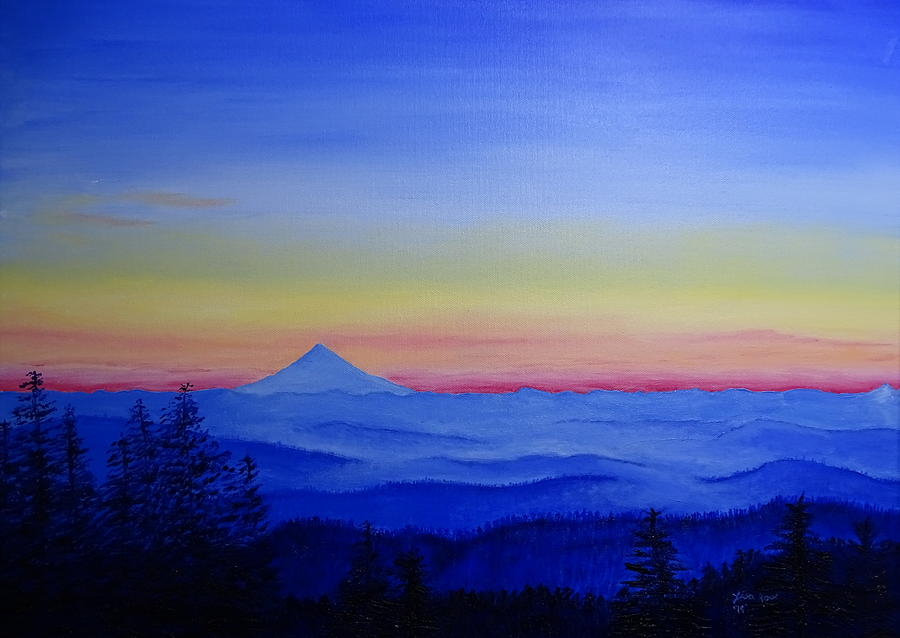 Coast Range view of Mount Hood by Lisa Rose Musselwhite