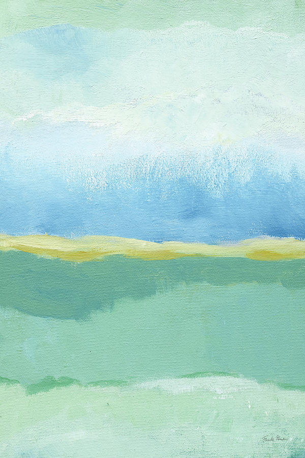 Abstract Painting - Coastal Bliss I Crop by Farida Zaman