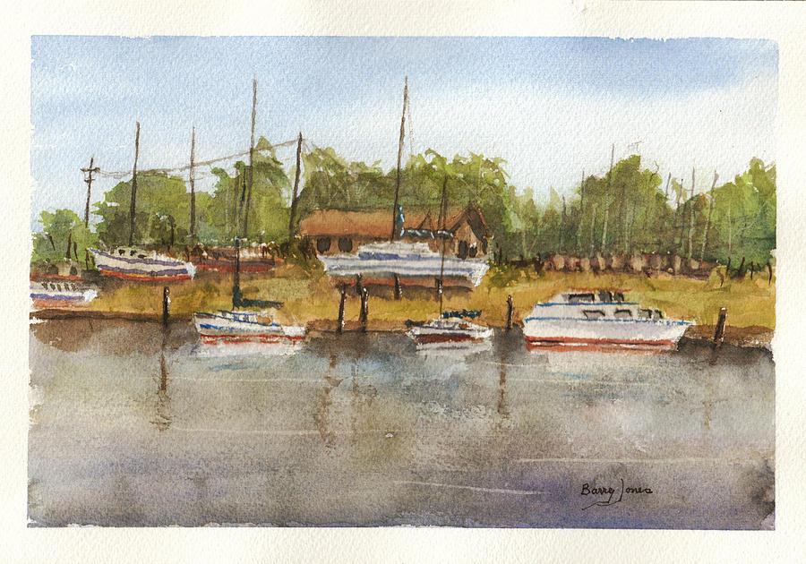 Coastal Boatyard by Barry Jones