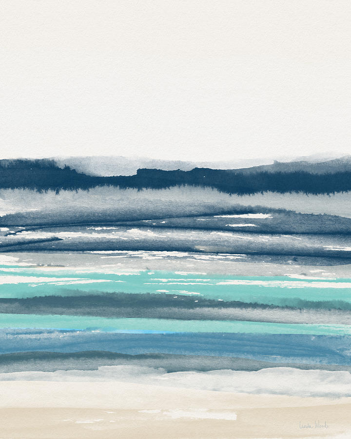 Abstract Painting - Coastal Calm Water 2- Art By Linda Woods by Linda Woods
