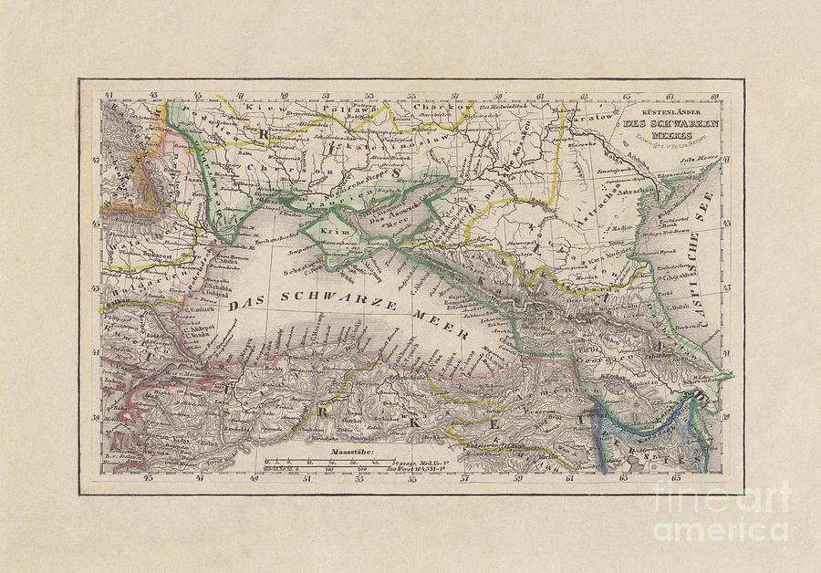 Coastal Countries Of The Black Sea Digital Art by Zu 09