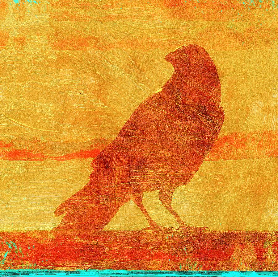 Crow Mixed Media - Coastal Crow One by Carol Leigh