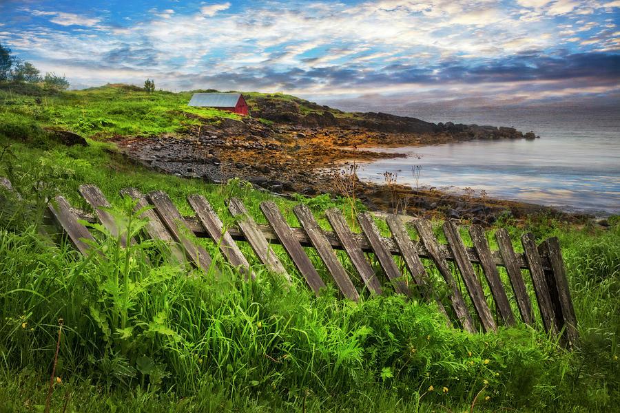 Barn Photograph - Coastal Fences by Debra and Dave Vanderlaan