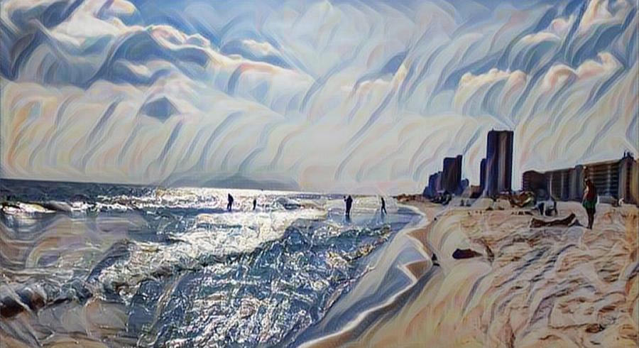 Beach Digital Art - Coastal Life by Sheila Renee Parker