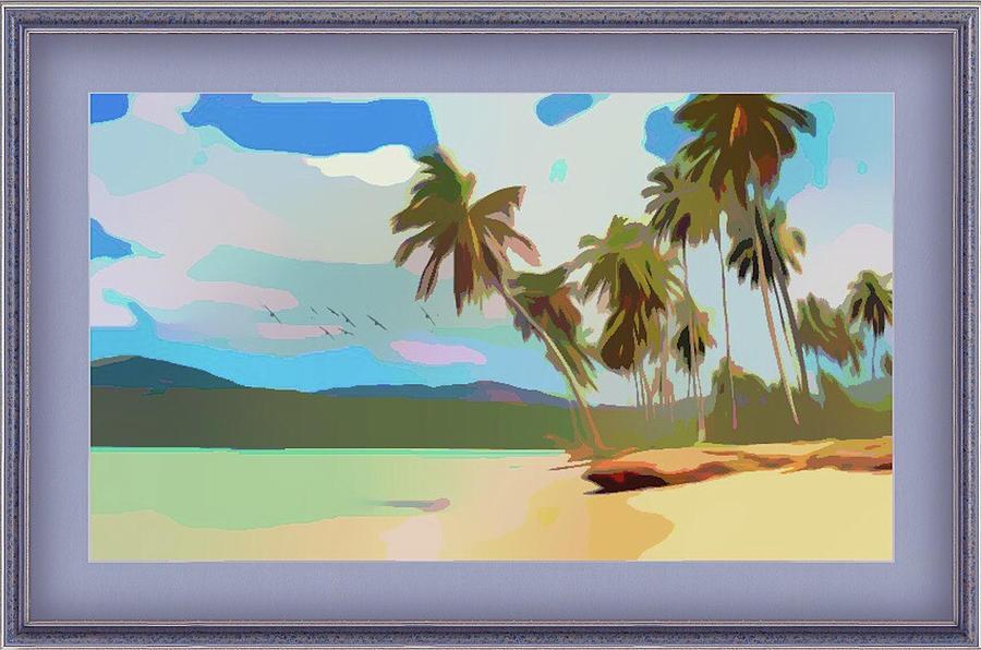 Coastal Palm Trees by Clive Littin