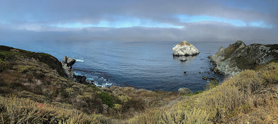 Coastal Panorama - Big Sur as the Fog Lifts by TL Wilson Photography by Teresa Wilson