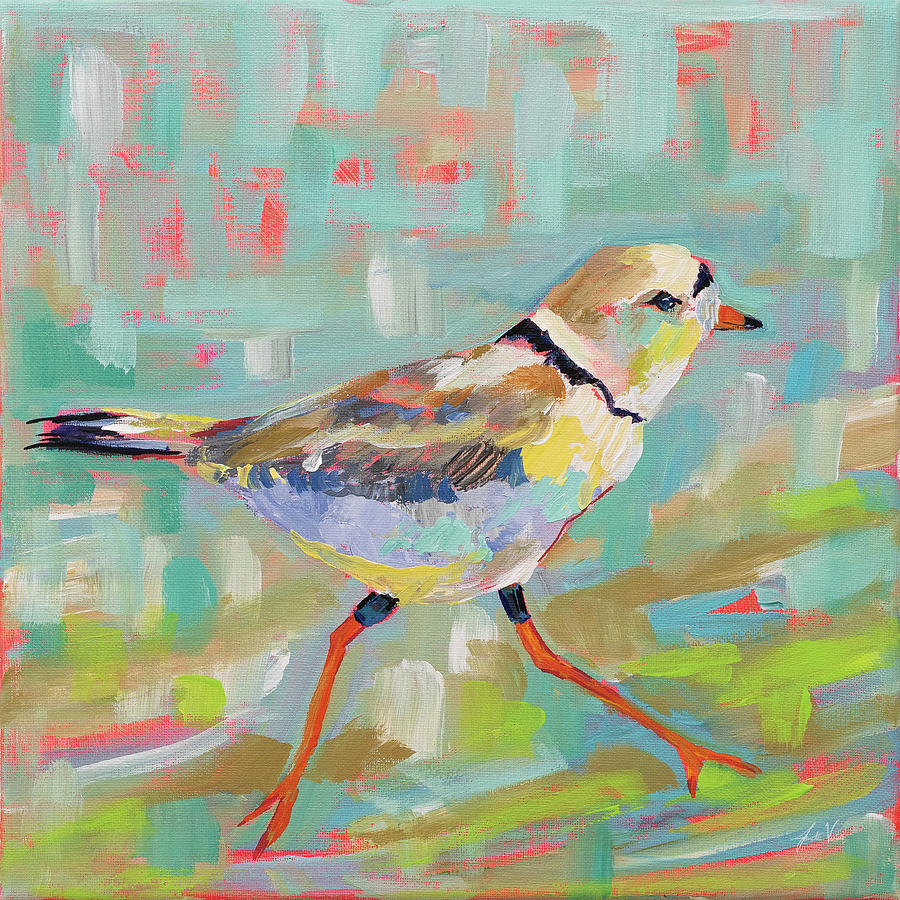 Animals Painting - Coastal Plover I by Jeanette Vertentes