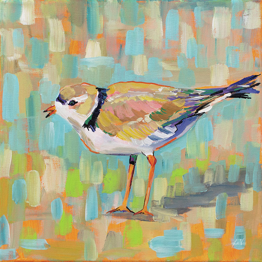 Animals Painting - Coastal Plover Iv by Jeanette Vertentes