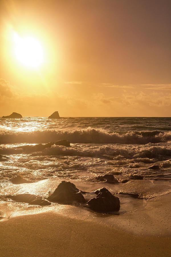 Beach Photograph - Coastal Sunrise Silhouette by Betsy Knapp