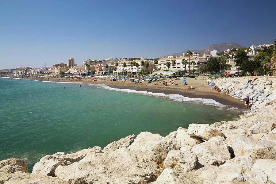 Coastal View Of Torremolinos, Malaga Photograph by Perry Mastrovito