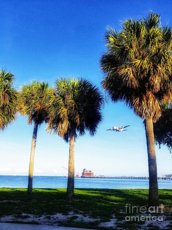 Coast Guard Plane in Flight by Rachel Hannah