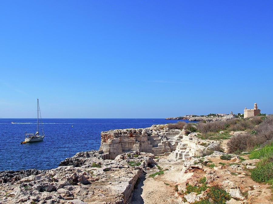 coastline and cliffs in ciutadella menorca by Philip Openshaw