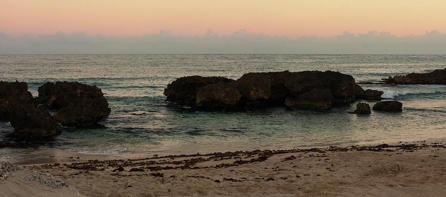 Coastline Sunrise Panorama by Eugene Campbell