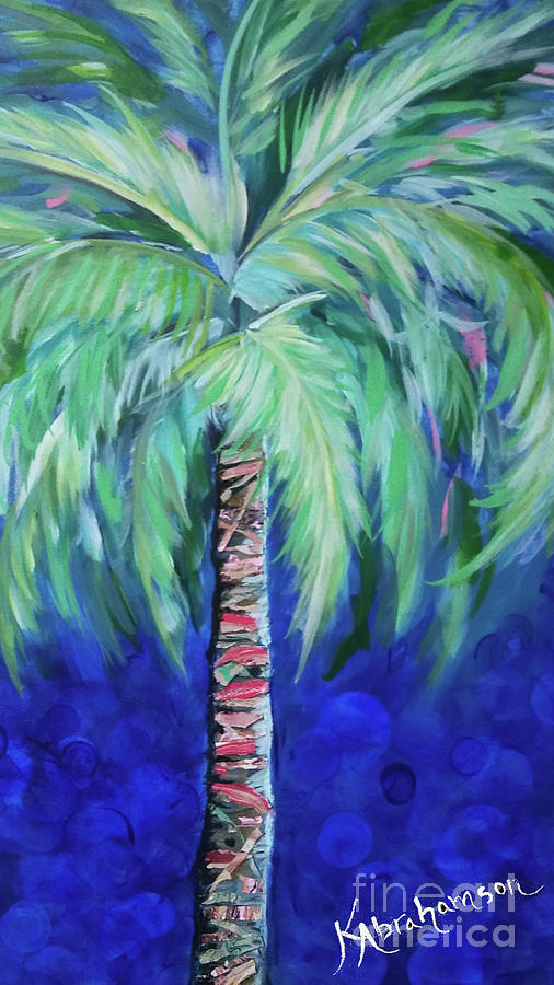 Cobalt Palencia Palm I by Kristen Abrahamson