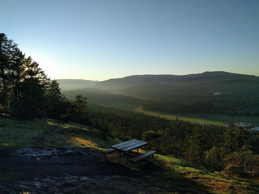 British Columbia Photograph - Cobble Hill lookout by Jordan Barnes