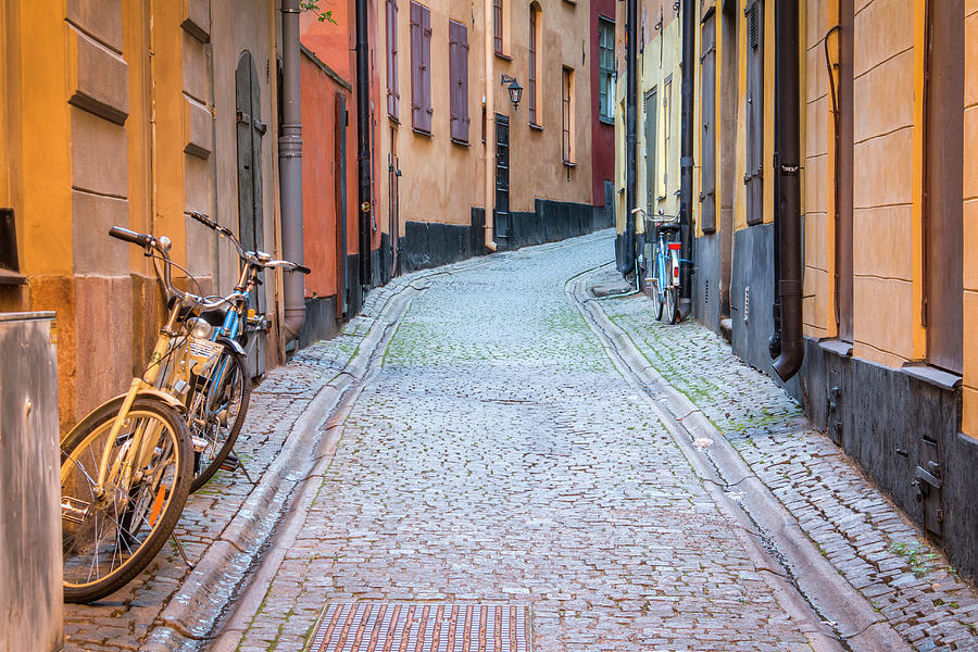 Cobble Stone Street in Stockholm 01092 by Kristina Rinell