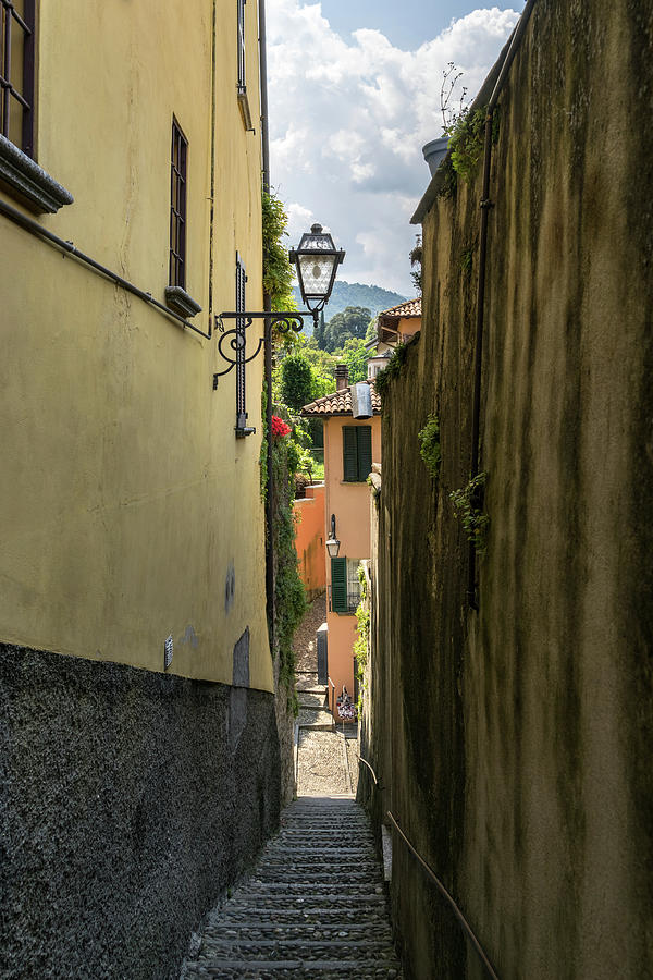 Cobblestoned Stairway Hugged by Homes - Gallivanting Around Famous Bellagio on Lake Como in Lombardy by Georgia Mizuleva