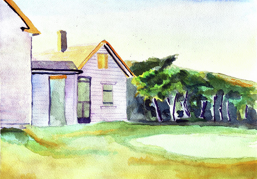 Cobb's House after Edward Hopper by Paul Thompson