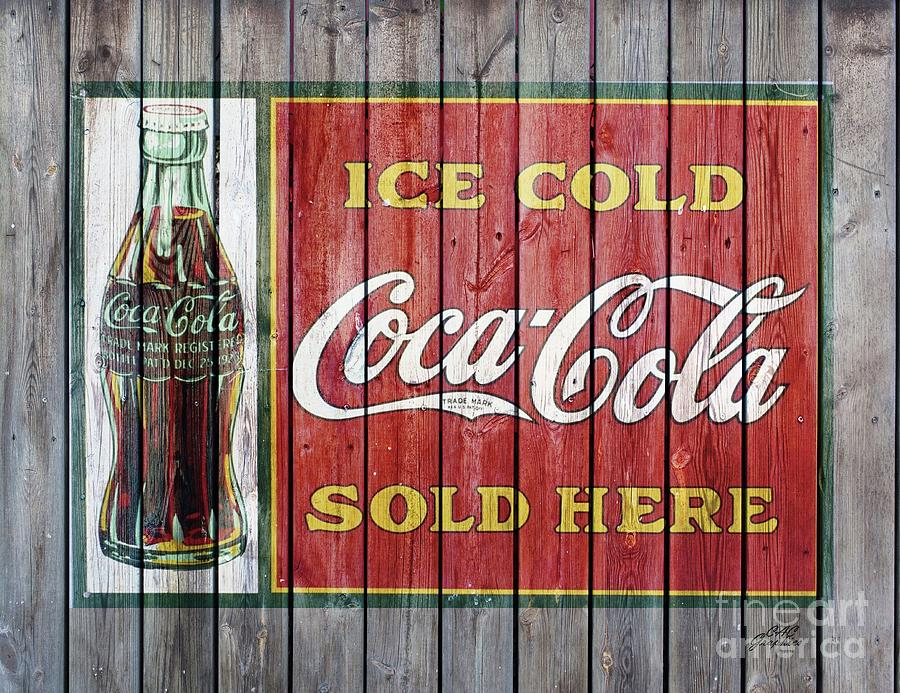 Coca Cola Barn Wood Sign 4 by CAC Graphics