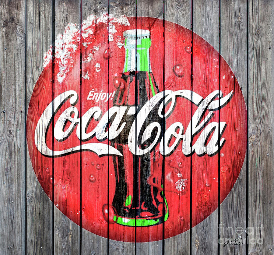 Coca Cola Barn Wood Sign 5 by CAC Graphics