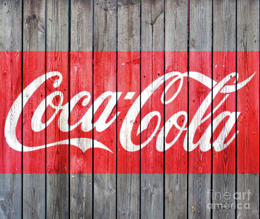 Coca Cola Barn Wood Sign 6 by CAC Graphics
