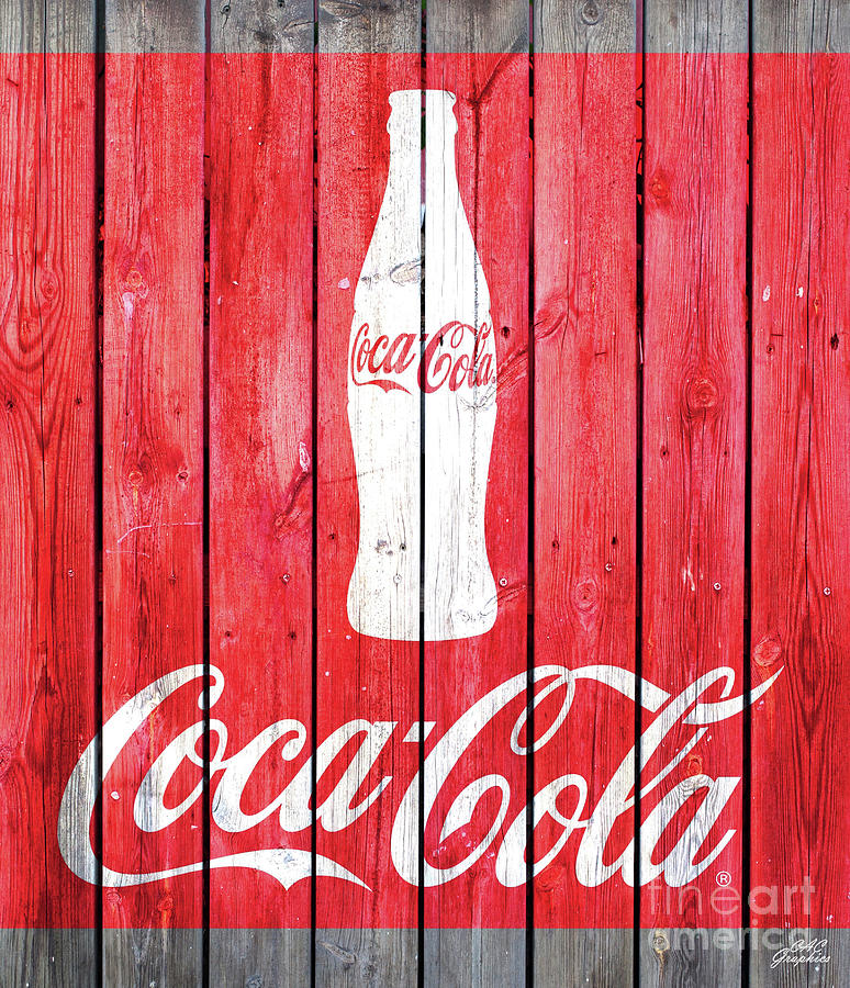 Coca Cola Barn Wood Sign by CAC Graphics