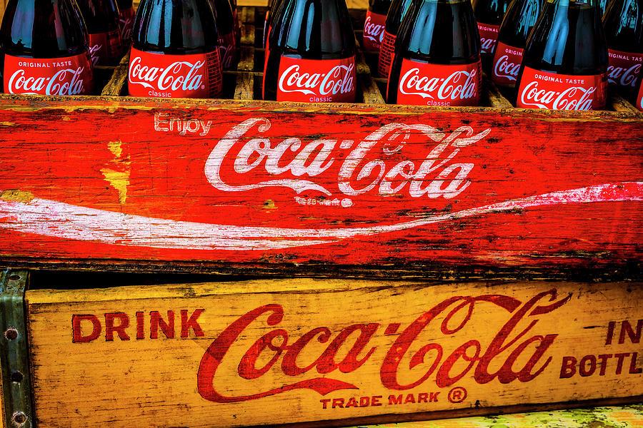 Coca Photograph - Coca Cola Crates by Garry Gay