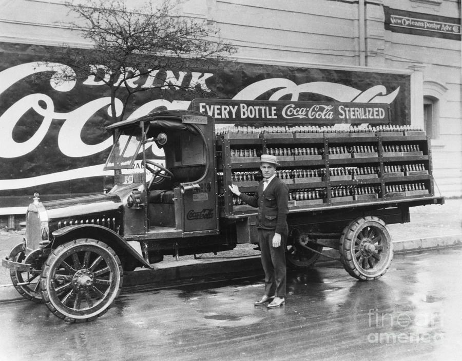 Coca-cola Delivery Truck And Driver Photograph by Bettmann