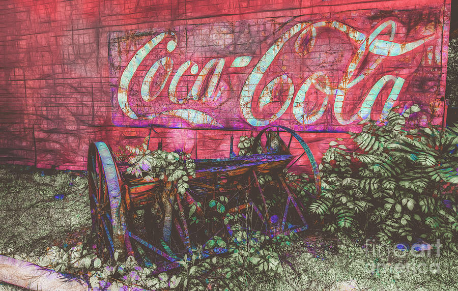 Coca-Cola  Wall Art in Cook Station  by Peggy Franz