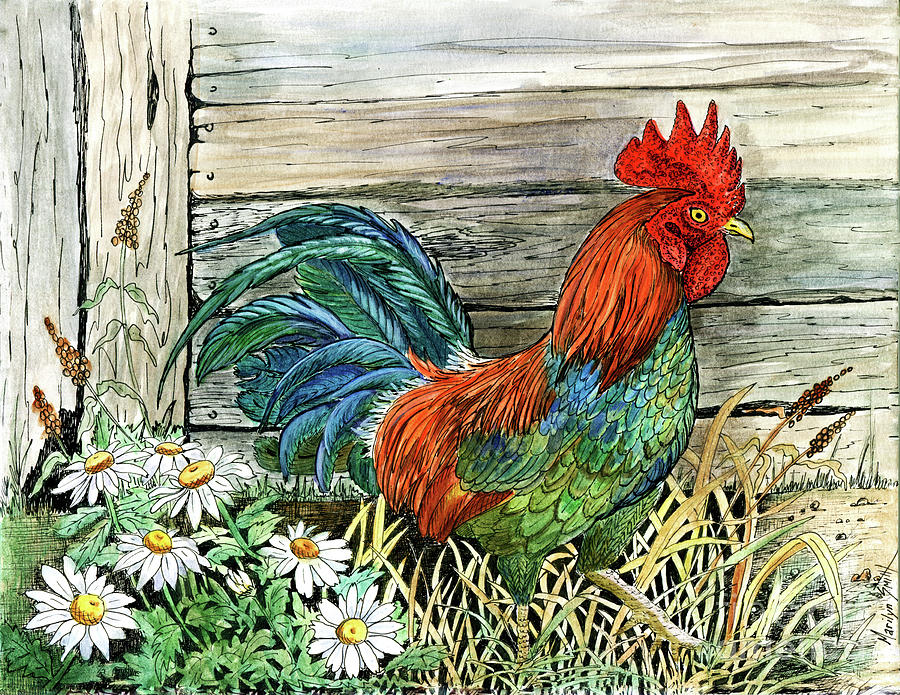 Cock-a-doodle-do by Marilyn Smith
