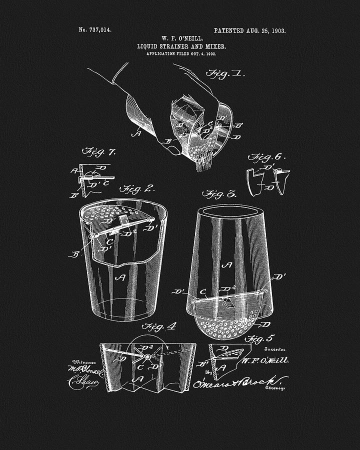 Cocktail Mixer Patent Drawing