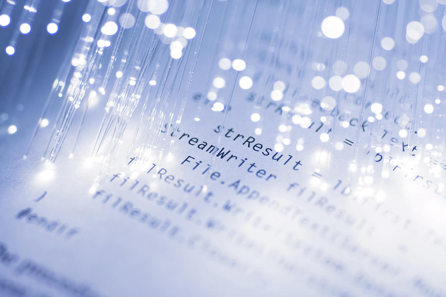 Code & Fiber Optics Photograph by The-tor