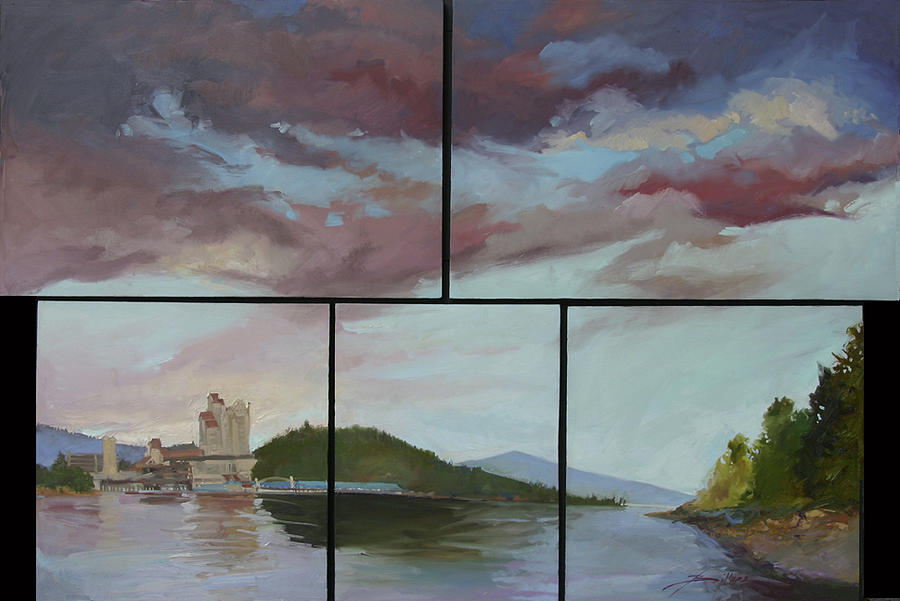 Coeur D'alene Resort Painting - Coeur d Alene Lake    North  Idaho by Betty Jean Billups