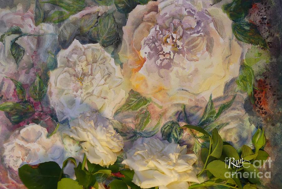 Coeur de Neige Rose Art and flower by Ryn Shell