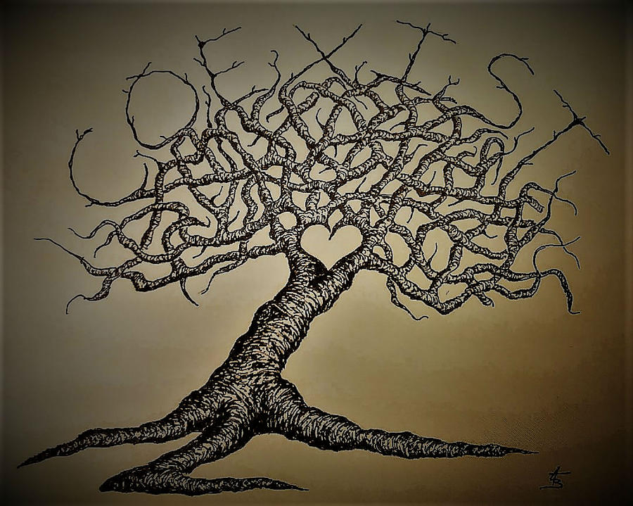 Coexist Love Tree- vintage by Aaron Bombalicki