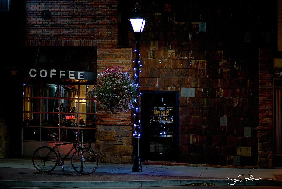 Coffee Photograph - Coffe, Bike and Light by Jens Peermann