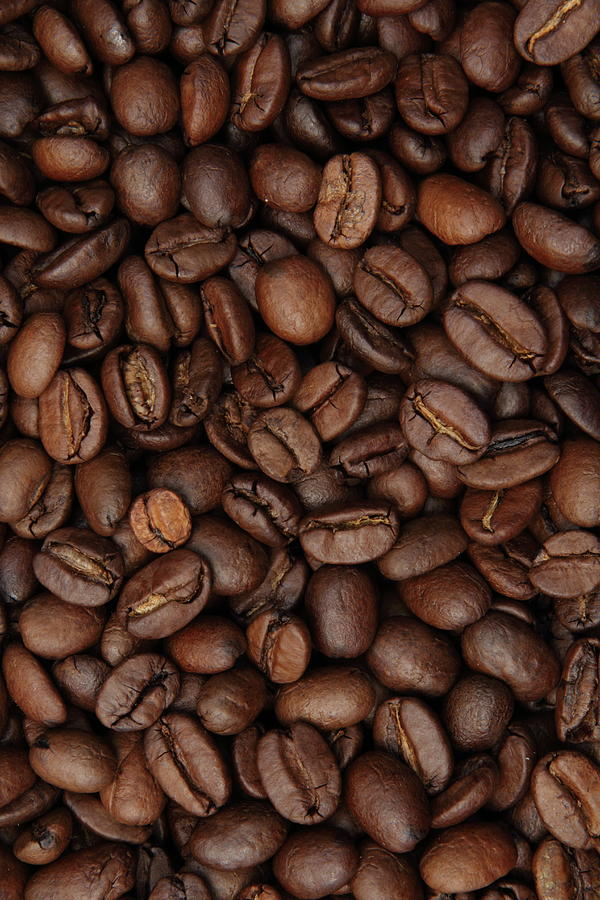 Coffee Bean Background Full Frame Photograph by Pejft