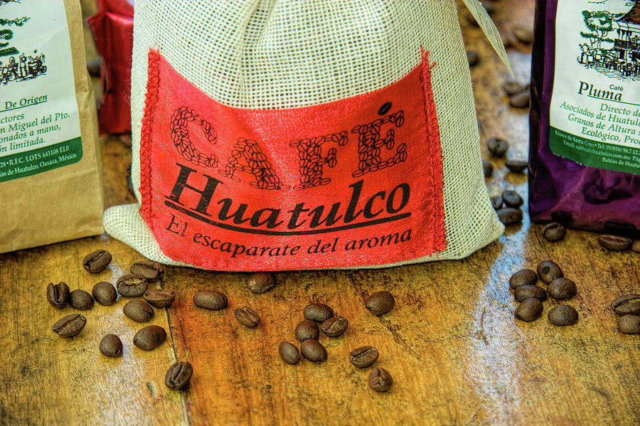 Coffee Beans in Huatulco Mexico by David Smith