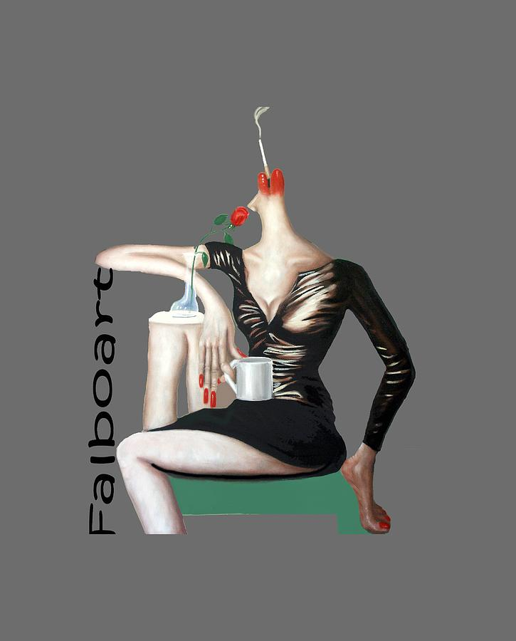 Cubism Painting - Coffee Break T-shirt by Anthony Falbo