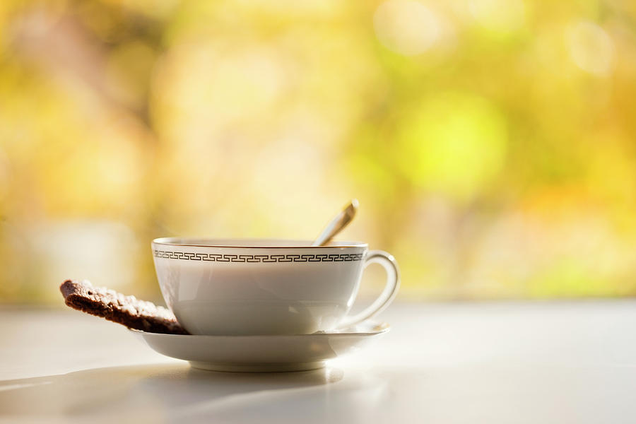 Coffee Cup With Cookie, Still Life Photograph by Johner Images