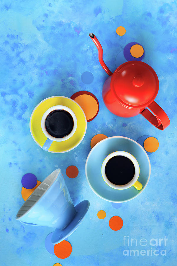 Coffee Cups With Pour Over And A Kettle Photograph by Dina Belenko Photography