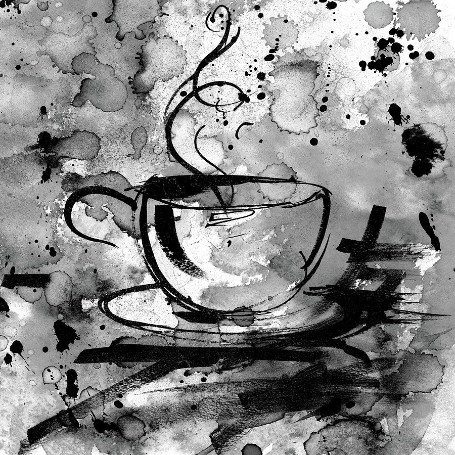 Abstract Painting - Coffee Dreams No. 16b by Kathy Morton Stanion