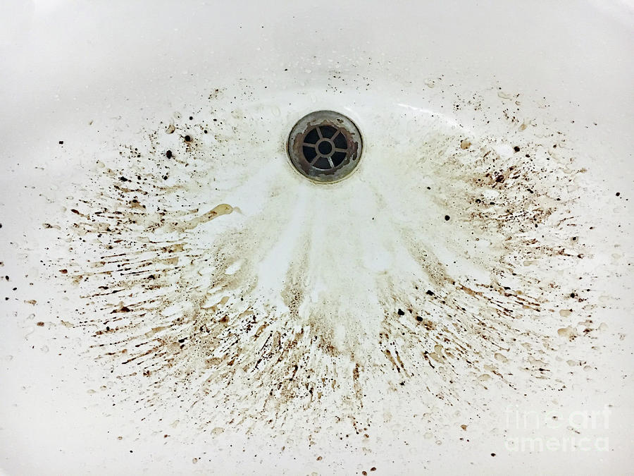Abstract Photograph - Coffee Grounds In A Sink by Tom Gowanlock