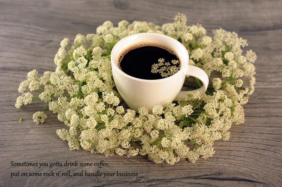 Coffee in White by Randi Grace Nilsberg