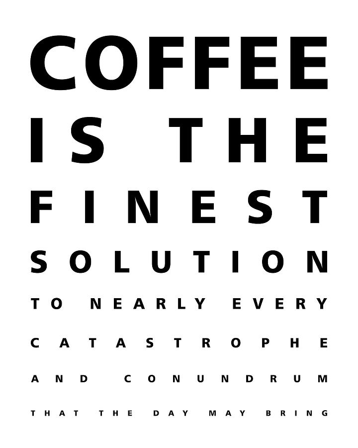 Coffee Is The Finest Solution Poster - Coffee Poster - Coffee Quotes - Cafe Decor Mixed Media