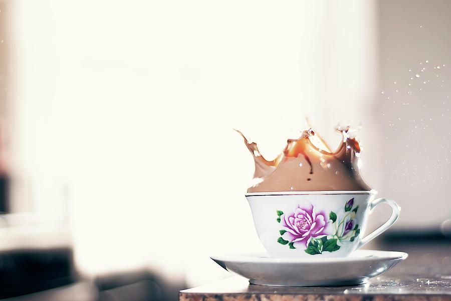 Coffee Splash In Kitchen Photograph by Photographs By Vitaliy Piltser